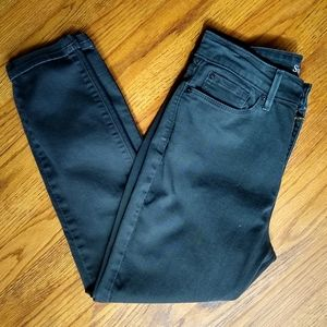 LEVI'S 6 Black high rise ankle skinny jeans